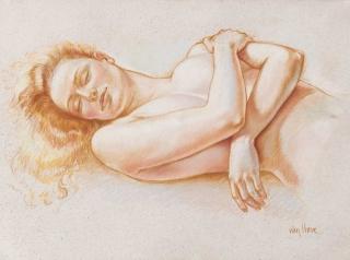 Francine Van Hove Soleil Couchant pastel