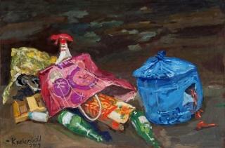Jürg Kreienbühl Poubelles 2003 painting peinture