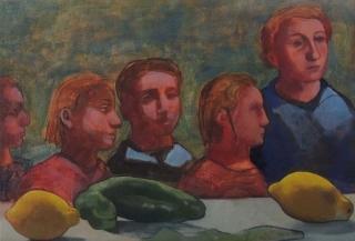 Monique de Roux Famille 2016 painting peinture