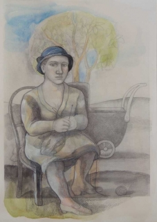 Monique de Roux La Mère conte macabre drawing dessin