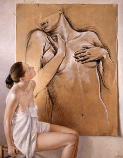 Francine Van Hove Narcisse 2004 painting peinture