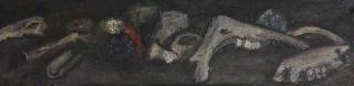 Jürg Kreienbühl Ossements 1952-1954 painting peinture