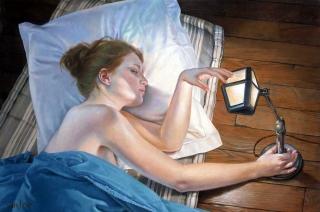 Francine Van Hove La petite lampe 1930 2008 painting peinture