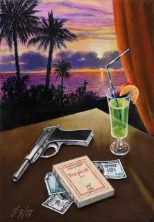 Sergio Ceccotti Tropical 2017 painting peinture
