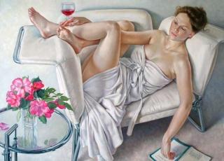 Francine Van Hove Les petits plaisirs 2012 painting peinture