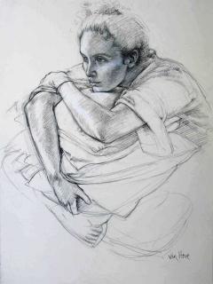Francine Van Hove Etude pour Les Bas noirs 2010 drawing dessin