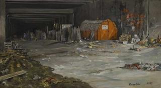 Jürg Kreienbühl  La Défense tunnel 1981 2001 painting peinture