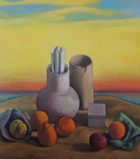 Monique de Roux Bodegón al amanecer 2016 painting peinture