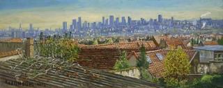 Jürg Kreienbühl Vue sur Paris 2003 peinture painting