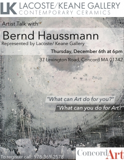 Bernd Haussmann Artist Talk at Concord Art