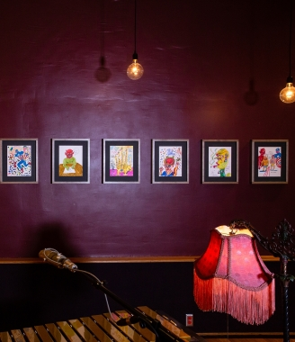 OAF Curated Space | Daniel Johnston: Psychedelic Drawings