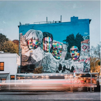 Kobra paints mural for HG Contemporary during his NYC wide residency