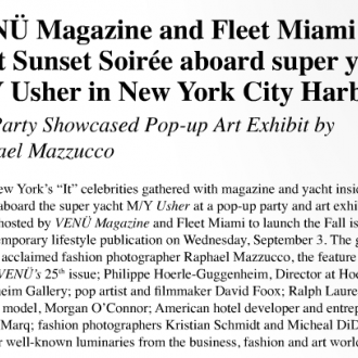 Venu Magazine and Fleet Magazine Host Sunset Soiree