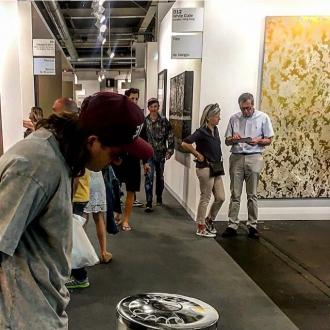 Artist Massimo Agostinelli Garbage Bin Statement at Art Basel