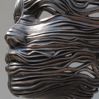 Figurative Sculptures Made of Stainless Steel Ribbons