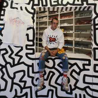 Keith Haring Pop Shop Mural Fragment