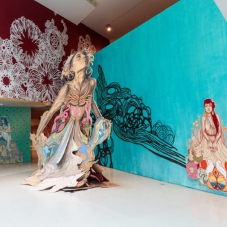 Swoon Has Completely Transformed a Museum With Her Captivating Paper Cut-Outs