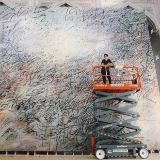 Julie Mehretu's New Monumental Commission for SFMOMA Now on View