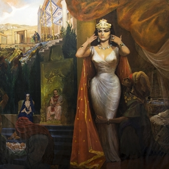 """World Largest Canvas depicts """"Solomon and Sheba"""" Scenes"""