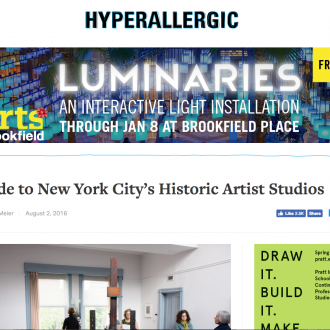 Foundation featured in Hyperallergic