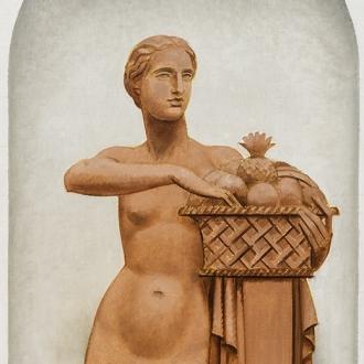 BERNARD BOUTET DE MONVEL (1881–1949), Pomona, 1928–29. Oil on canvas mounted on Masonite, 60 5/8 x 31 1/2 in. (detail).