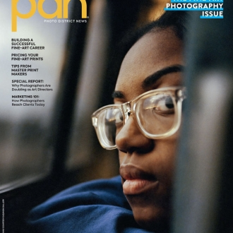 McNair Evans featured on the cover of PDN along with interview on working as an artist