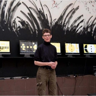 "July 2017: Kathy McTavish ""chance"" exhibit at the Tweed Museum progress"