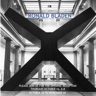 Ronald Bladen: Sculpture of the 1960s & 1970s