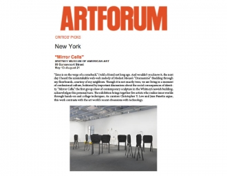 Artforum Critics' Pick