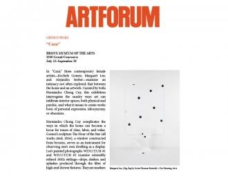 Margaret Lee in Artforum
