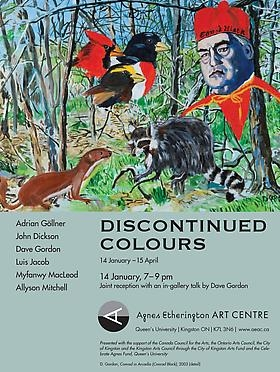 ADRIAN GÖLLNER APPEARS IN DISCONTINUED COLOURS AT THE AGNES ETHERINGTON ART CENTRE