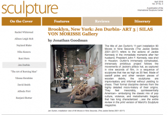 JEN DURBIN is in SCULPTURE Magazine