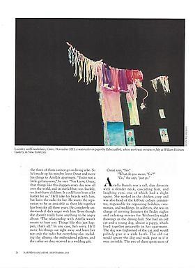 William Holman Gallery and Rebecca Bird in September Issue of Harper's Magazine