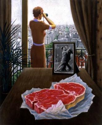 Sergio Ceccotti Motivo argentino painting peinture