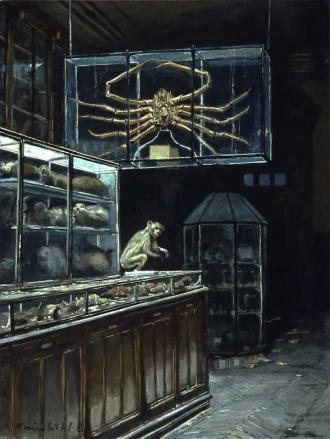 Jürg Kreienbühl L'Araignée de mer painting peinture Museum d'Histoire Naturelle