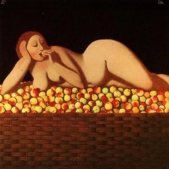 Ivan Lubennikov Eve painting peinture