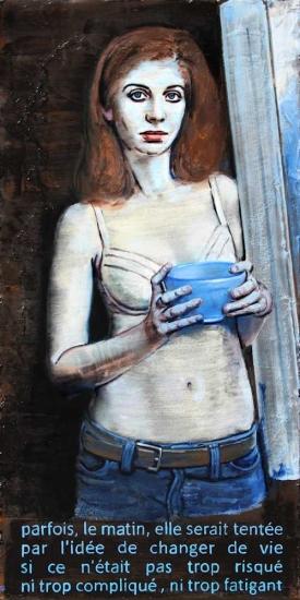 Pierre Lamalattie Parfois le matin painting peinture