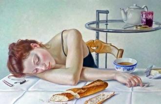 Francine Van Hove Lire tranquille painting peinture