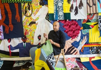 Textile Artist Christopher Myers Debuts New Set of Figurative Quilts at Fort Gansevoort