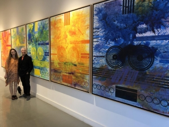 J. streven Manolis Color Matters at the Paul Fisher Gallery