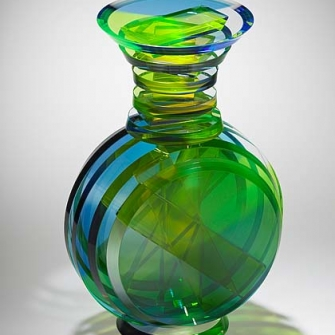 Polished Laminated Vertical Vase #24