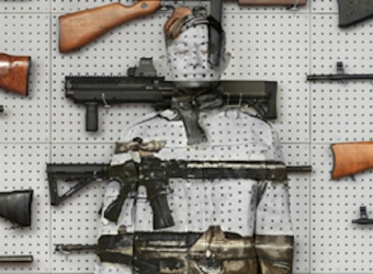 "Liu Bolin: ""Up in Arms: Taking Stock of Guns,"" Brattleboro Museum & Art Center, Brattleboro, VT (Group Exhibition)"