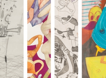 Parallel Phenomena: Works on Paper by Carroll Dunham, Susan Te Kahurangi King, Gladys Nilsson and Peter Saul