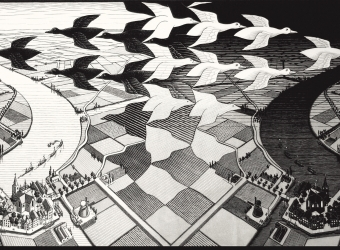 M.C. Escher, Day and Night #303, 1938