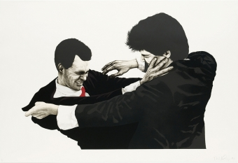 "Robert Longo ""Frank and Glen"""