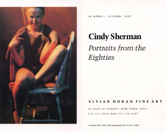 Cindy Sherman: Portraits from the Eighties