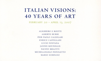 Italian Visions: 40 Years of Art