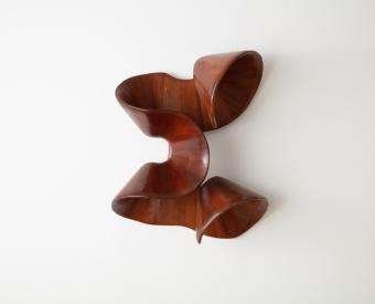 "Ralph Dorazio's artwork ""Tall cylinder with cutouts"""