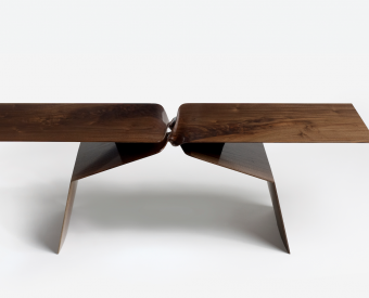 "Carol Egan's ""Coffee Table"" 2016 Walnut."