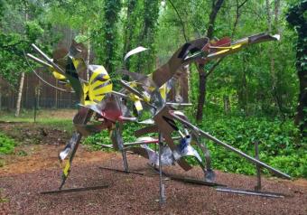 FRE ILGEN的創作安裝於BEI WU 雕塑公園